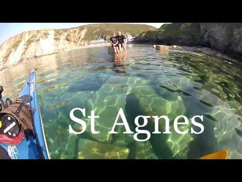 Sea Kayaking Cornwall 2013 - Porthtowan - St Agnes.