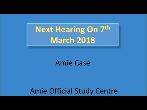 Amie Case status from official site