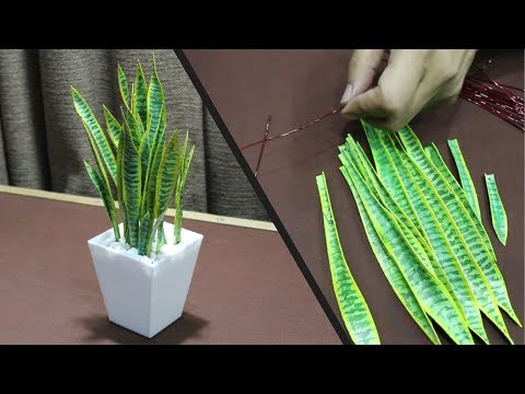 DIY Artificial Snake Plant | How to make Indoor Plant