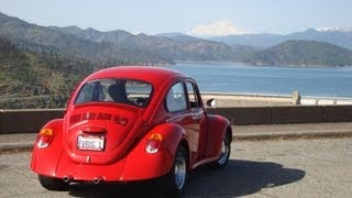 Electric VW Bug climbs a 6% grade with ease.