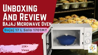 Microwave Oven Unboxing and Review : Bajaj 17 L Solo Microwave Oven (1701 MT, White)