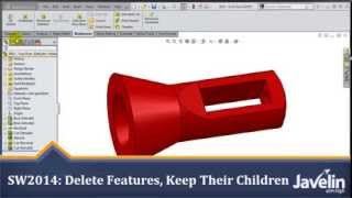 Solidworks 2014 Tutorial: Extreme Design Change - Total Control When Deleting Features