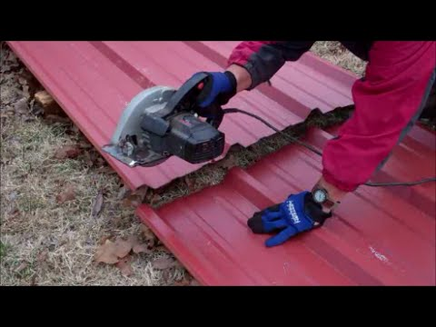 Cutting Metal Roofing With Circular Saw
