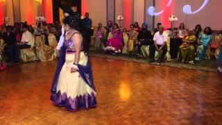 Story Told Through Bollywood Dance At Wedding Reception
