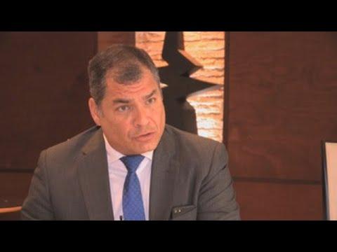 """Correa teme por su libertad y dice existe una """"persecución"""" del actual Gobierno"""