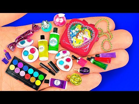 18 DIY Miniature Barbie Cosmetics ~ Lipstick, Eyeshadow Palette, Mascara, Makeup Kit And More!