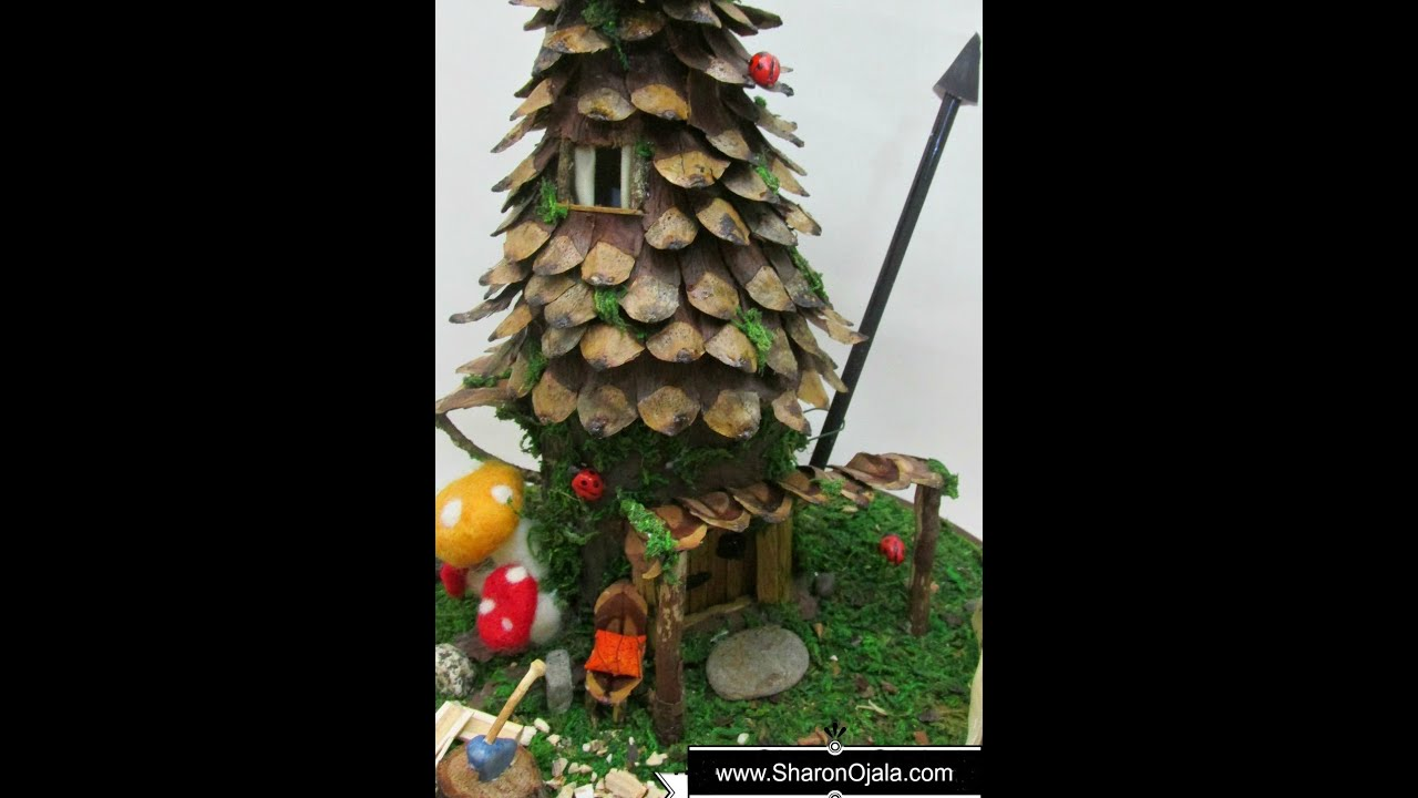 Diy Fairy House Roof
