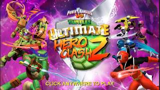 Power Rangers Ultimate Battle vs TMNT cartoon for kids part 1- Colorful Game