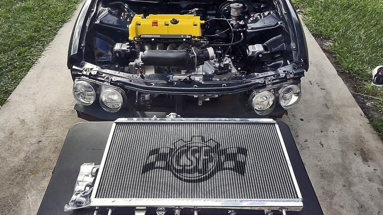 MAKING THIS K24 EVEN COOLER! (CSF Radiator Install) - K24 Integra Build  (EP 14)