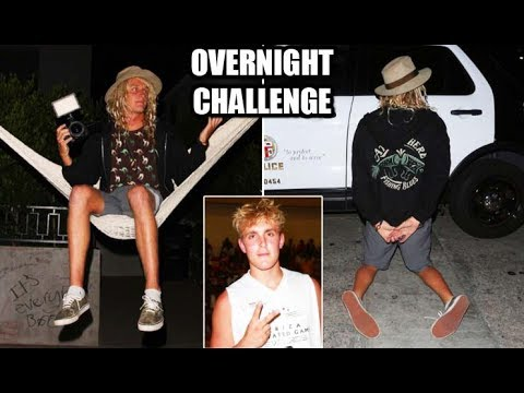 JAKE PAUL TRIED TO HAVE ME ARRESTED!!? **Overnight Challenge** JSC Ep.1
