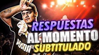 ACZINO | EL REY DE LAS CONTESTACIONES!! *Subtitulado* (Freestyle rap)
