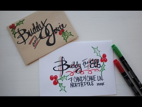 Hand lettering on envelopes youtube thecheapjerseys Images