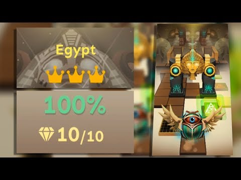 Rolling Sky Level 26 Egypt 100% Clear - All Gems & Crowns | SHA