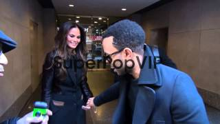 John Legend and Christine Teigen at the 'TODAY' show stud...