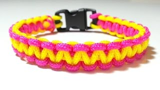 Repeat youtube video DIY Comment faire un bracelet Paracord Créacord