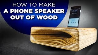 Learn how to make a speaker out of wood - Easy DIY project