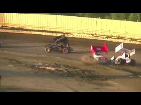 sprint car wreck mickey walker christian york danny smith creek county speedway