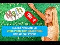 Solved Problems on Fractions Linear Equations हिंदी