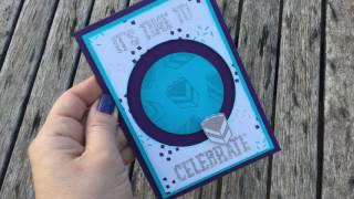 Carolina Evans Stampin' Up! Party With Cake Spinner Card
