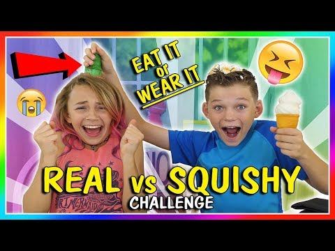 EAT IT OR WEAR IT  SQUISHY VS REAL CHALLENGE  We Are The Davises