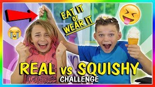 EAT IT OR WEAR IT | SQUISHY VS REAL CHALLENGE | We Are The Davises