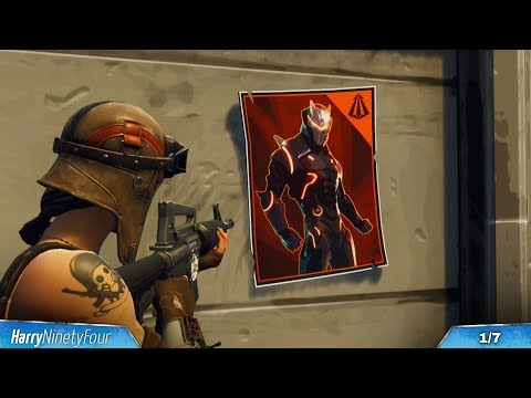 Fortnite Battle Royale - All Carbide & Omega Posters Locations Guide (Season 4 Challenge)