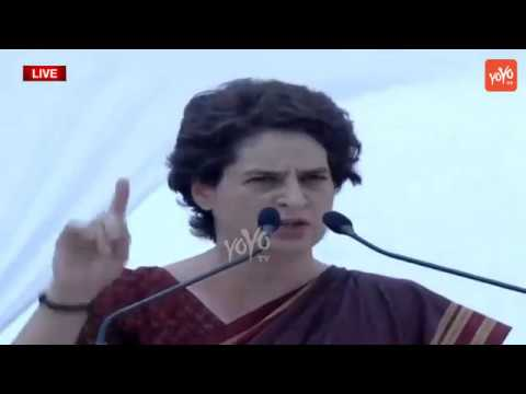 Priyanka Gandhi Powerful Speech Infront Of Rahul Gandhi | Congress Meeting in Agra | YOYO TV