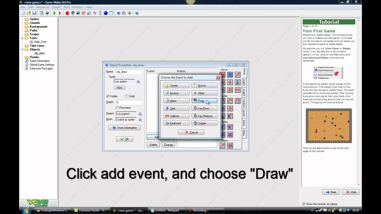 how to make object invincible game maker 8.1