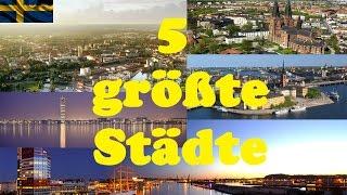 5 größte Städte - Schweden | Nordika