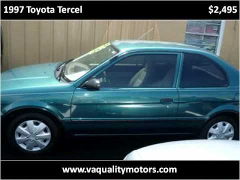 Va Quality Motors >> 1997 Toyota Tercel Available From Va Quality Motors