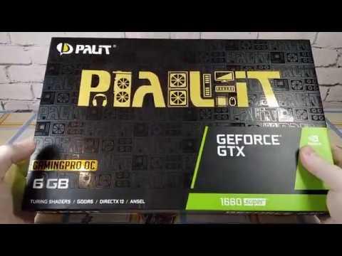 Palit PCI-Ex GeForce GTX 1660 Super GamingPro OC 6GB GDDR6 (192bit) (1530/14000) (DVI, HDMI, DisplayPort) (NE6166SS18J9-1160A)