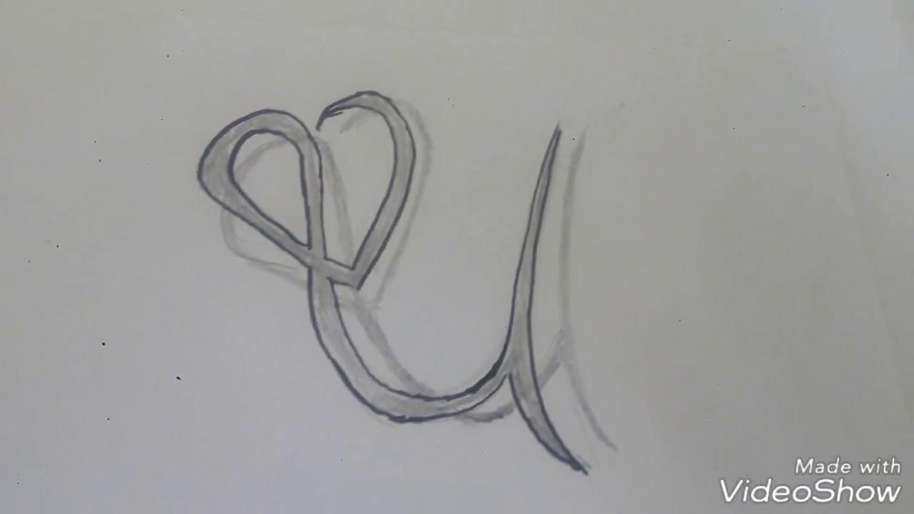 رسم حرف U بطريقه ابداعيه وبسيطه يمكن تنفيذها بسهوله جرب بنفسك Youtube