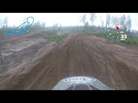 Erno Aro one lap around Orimattilamotocross track on CRF450R