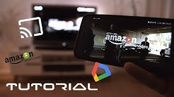 Amazon Prime Instant Video über Handy mit Chromecast auf Fernseher abspielen  / streamen - Tutorial