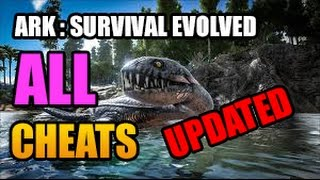 ALL Ark: Survival Evolved CHEATS | GOD, FLY, FORCETAME, ITEMS, TELEPORT AND MORE! | JULY 2017