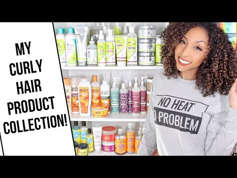 My Curly Hair Product Collection! | BiancaReneeToday