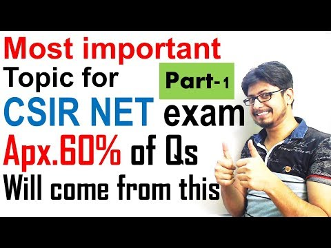Most important topics for CSIR UGC NET exam lecture 1 | CSIR UGC NET Life science tips
