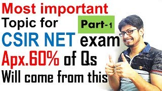 Most important topics for CSIR UGC NET exam lecture 1   CSIR UGC NET Life science tips