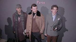 Julien Boudet, Brice Butler and more at the Berluti Menswear Fall Winter 2016 Fashion Show