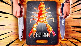EXTREMELY FAST CUTTING OF LOBSTER / SALMON / CHICKEN