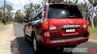 2014 Toyota LandCruiser Sahara V8 0-100km/h & engine sound