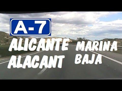 AP-7 Autopista del Mediterráneo , Zona Marina Baja , Alicante/Alacant / Expressways in Spain