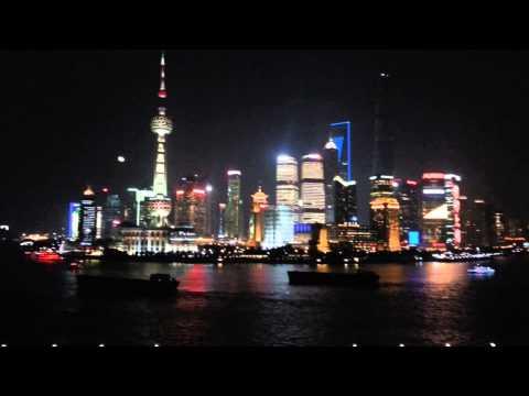 Bar rouge Shanghai. Night start.