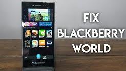 BlackBerry 10 App World Fix!!! How to Fix the BlackBerry App Store!!!