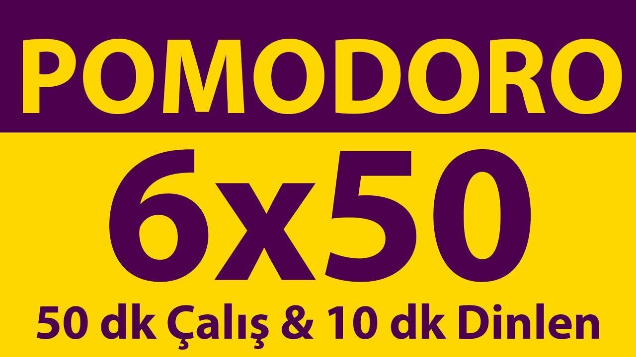 Pomodoro Tekniği | 6 x 50 Dakika | 50 dk Çalış & 10 dk Dinlen | Pomodoro Sayacı | Alarmlı | Müziksiz
