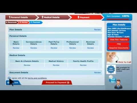 Online Buying Guide For Click2Protect - HDFC Life - Sar Utha Ke Jiyo