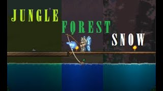 [Terraria] Multiple-Biome Switching Fisнing Area!