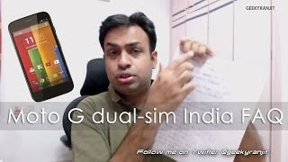Motorola Moto G Dual SIM sold in India FAQ - Vlog Style