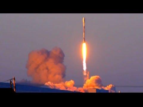 A Reused Space X Falcon 9 Launches Iridium Next 41-50 Communicatiosn Satellites Into Polar Orbit