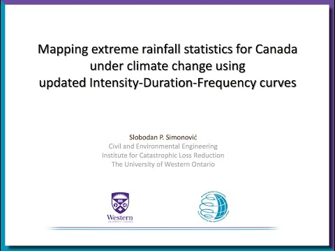 ICLR Friday Forum: Mapping extreme rainfall for Canada (March 11, 2016)